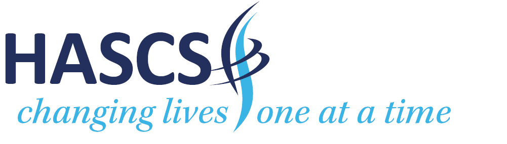 Welcome to our new website: our new logo with strapline - HASCS changing lives one at a time.